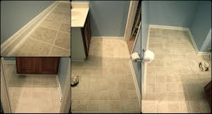 tile baseboard trim american olean starting line ceramic bullnose cheap simply diy simply diy bathroom floor part done with tile baseboard trim