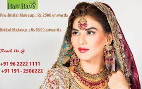 bridal makeup packages hair haus best spa and salon in canal road jammu