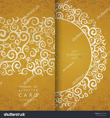 Invitation Card Cover Vintage Invitation Cards Lace Gold Ornament Stock Vector 169041068