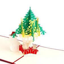 cheap christmas cards newest 3d handmade folding christmas card pop up kirigami