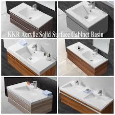 Acrylic Sinks Acrylic Solid Surface Bathroom Face Basin Semi Recessed Basins