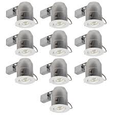easy install recessed lighting 6 swivel spotlight recessed lighting kit 10 pack dimmable
