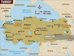 Map Of Istanbul Map Of Turkey Stock Illustration Getty Images
