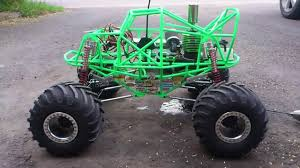 nitro monster trucks 1 8 scale nitro grave digger first test run youtube
