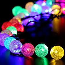 solar ball string lights