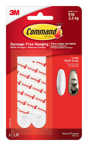 amazon com command refill strips large white 6 strips 17023p