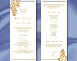 tea length wedding program template tea length wedding program template diy black white ceremony