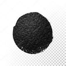 black watercolor brush blob vector oil paint smear polish stain
