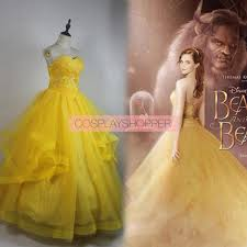 2017 new movie beauty and the beast belle dress cosplay costume