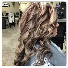 blonde highlight with burgundy violet purple maroon lowlight fall