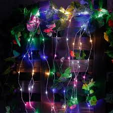 tree vine branch silver wire string led starry rice micro lights