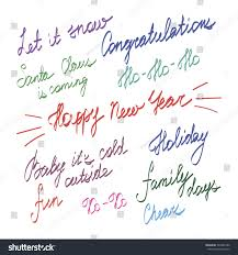 handwriting lettering happy new year merry stock vector 346262780