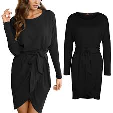 womens winter bodycon dress ladies long sleeve evening party