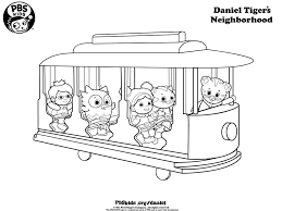 daniel tiger coloring pages coloring page for kids