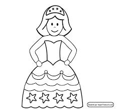 Coloriage et gabarit de la princesse ou la reine
