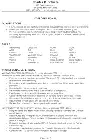 Resume Sles For It Professionals resume sle for an it professional susan ireland resumes