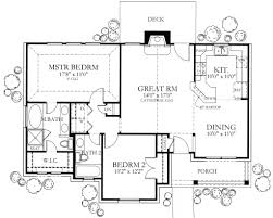 ranch style house plan 2 beds 2 00 baths 1092 sq ft plan 80 101