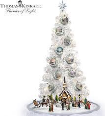 thomas kinkade lighted pictures thomas kinkade lighted tabletop musical christmas tree and