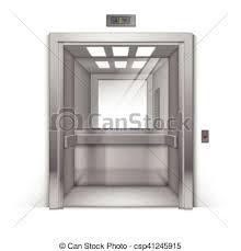 bureau chrome bâtiment bureau chrome métal isolé ascenseur réaliste