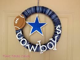 dallas cowboys yarn wreath craft diy