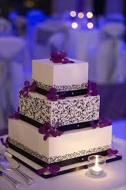 wedding cake purple black and white u2026 pinteres u2026