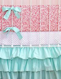 Pink And Aqua Crib Bedding Bedding Sets Aqua And Coral Bedding Sets Bdilrk Aqua And Coral