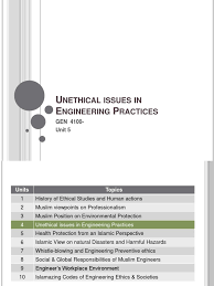 Responsibilities Of A Engineer Unethical Issues In Engineering Practices Presentation Copyright