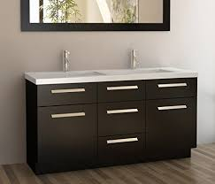 84 inch double sink bathroom vanities design element moscony double sink vanity set with white finish new
