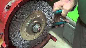 Bench Grinder Wheel Flange Replace A Grinder Stone Part Three 3 4 2016 Youtube
