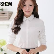 button blouses free shipping sale fashion business formal white bodysuit