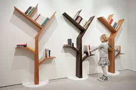 tree bookcases and shelves eco style coming with space saving ideas