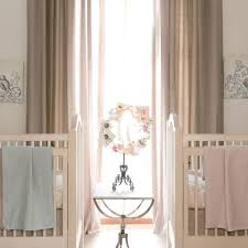 Lined Nursery Curtains by Interior Endearing Linen Drapes With Curtain Rod For Window