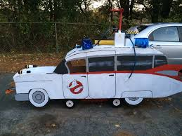 ecto 1 ghostbusters halloween wagon by charliemacpaintings on