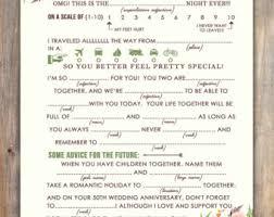 Wedding Mad Lib Template New Wedding Mad Libs Printable And Editable Pdf Template