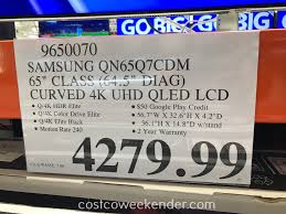 costco thanksgiving deals samsung qn65q7cdm 65