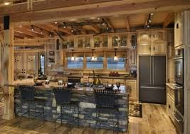 cabin kitchen ideas entranching awesome log cabin kitchen cabinets ideas plans