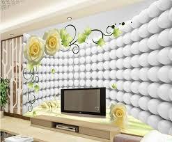 Custom Modern Wallpaper DesignD Rose Swan Papel De Paredehotel - Living room wallpaper design