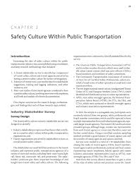 chapter 2 safety culture within public transportation