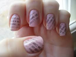 how to do newspaper nail art using water nail art ideas