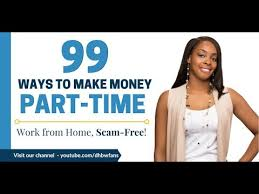 get paid to work from home part time 99 companies to check out