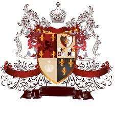 wappen designer klassisches heraldisches design mit wappen und schild in der