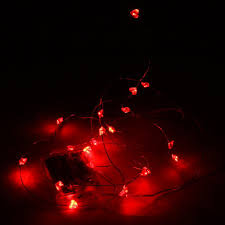Battery Operated Mini Led String Lights by Aliexpress Com Buy 2m 20 Leds Red Heart Battery Operated Mini