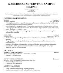 Master Data Management Resume Samples by Warehouse Manager Resume Examples Template Design