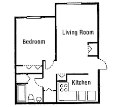 beautiful simple one bedroom house plans for kitchen simple