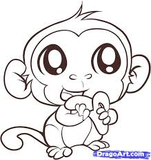 how to draw an easy monkey step by step forest animals animals