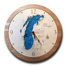 lake michigan 3 d nautical wood clock 17 5