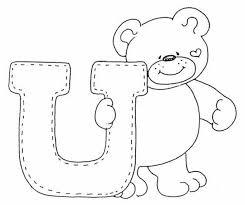 cute bear in o alphabet coloring pages alphabet coloring pages