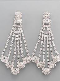 rhinestone chandelier earrings rhinestone chandelier earrings vintage style costume jewelry