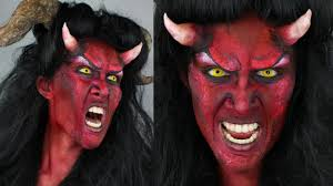 devil makeup tutorial diy horns 31 days of halloween youtube