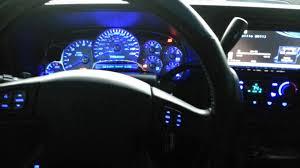 chevy silverado interior lights 2004 chevy ss compete interior blue led conversion youtube